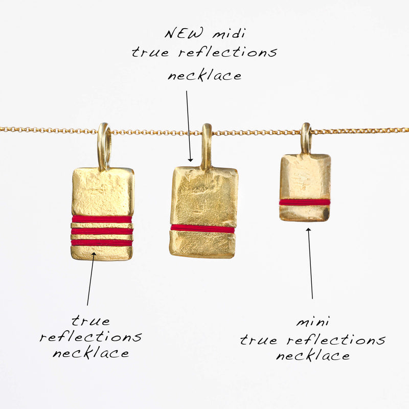 Thousand Fibres True Reflections Necklaces Sizes