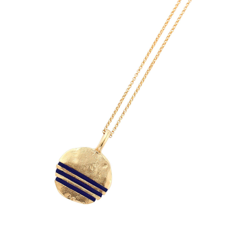 Full-Circle Necklace Necklace Thousand Fibres 18ct Gold Vermeil midnight