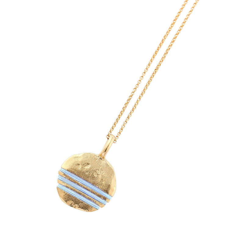 Full-Circle Necklace Necklace Thousand Fibres 18ct Gold Vermeil sky