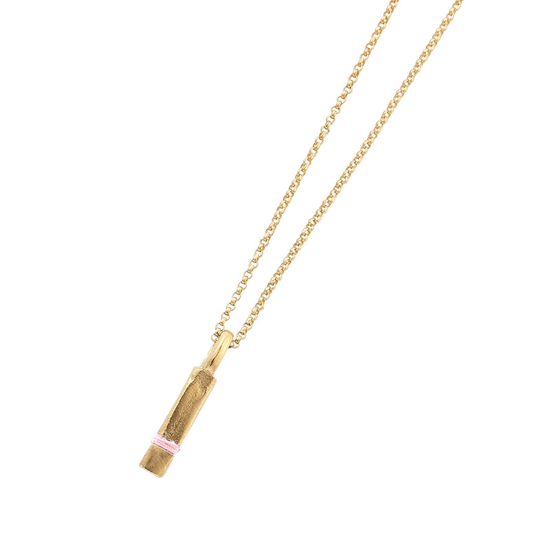 Mini Between-Us Necklace Necklace Thousand Fibres 18ct Gold Vermeil blossom