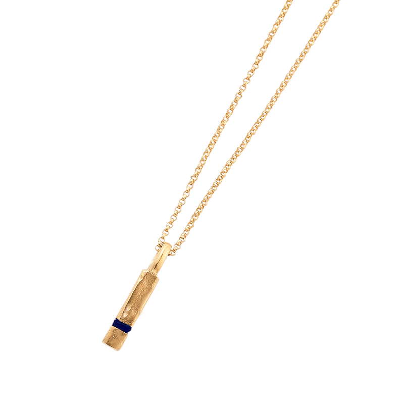 Mini Between-Us Necklace Necklace Thousand Fibres 18ct Gold Vermeil midnight