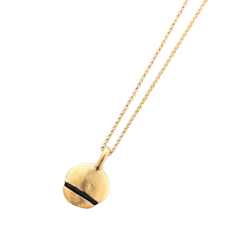 Mini Full-Circle Necklace Necklace Thousand Fibres 18ct Gold Vermeil jet