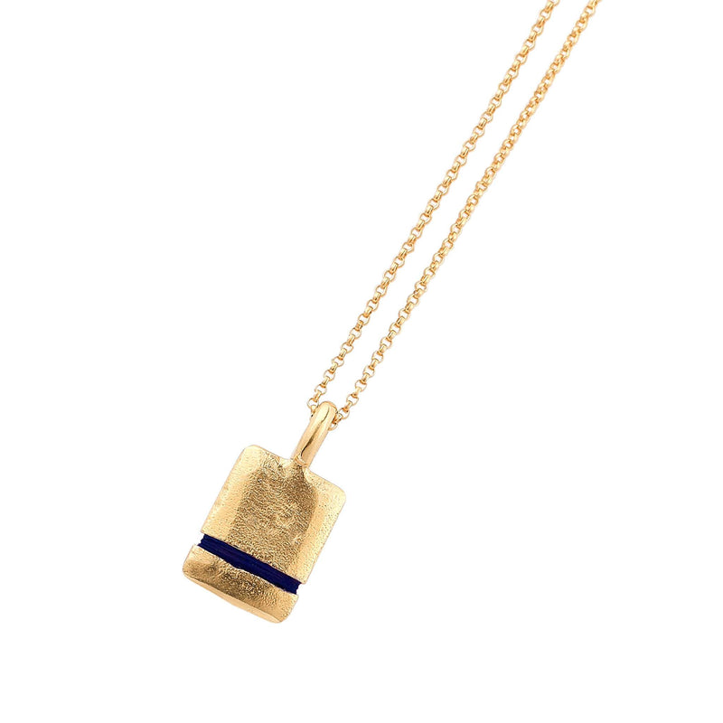 Mini True Reflections Necklace Necklace Thousand Fibres 18ct Gold Vermeil midnight