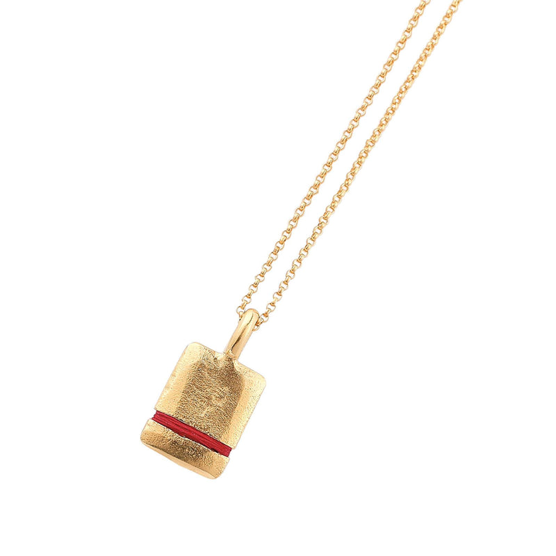 Mini True Reflections Necklace Necklace Thousand Fibres 18ct Gold Vermeil ruby-red