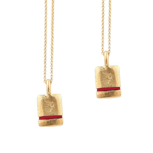 The Mini True Reflections Necklace Bundle Thousand Fibres ruby-red