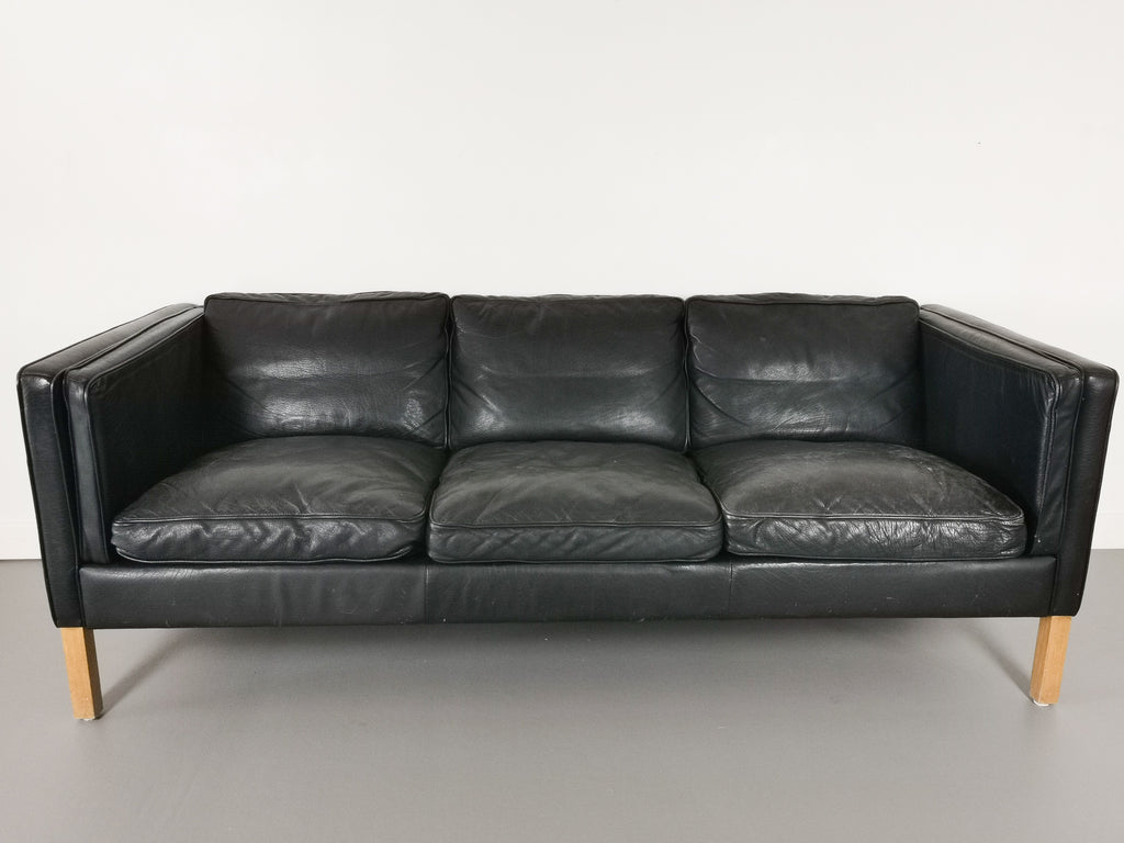 1970's Danish Leather Sofa