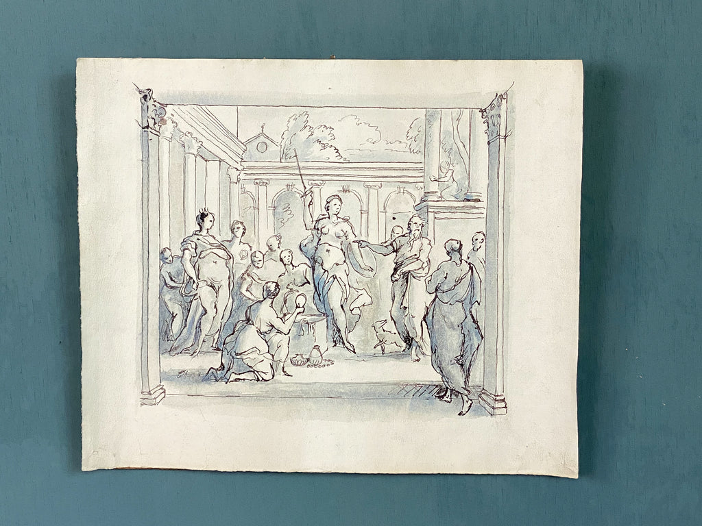 19th Century Ink and Wash Drawing