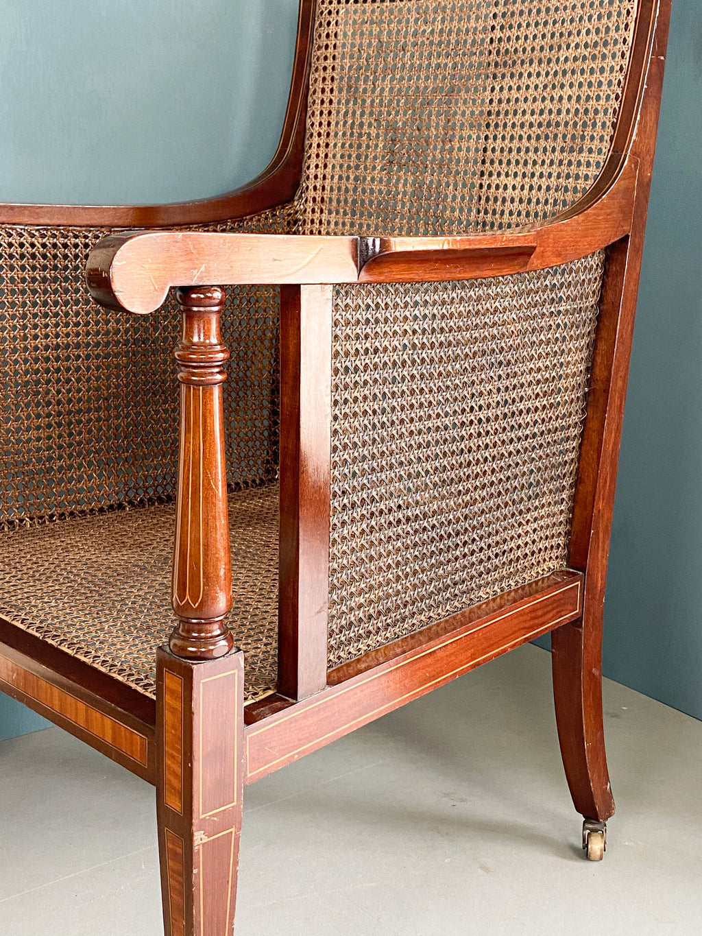 Sheraton Revival Caned Chair