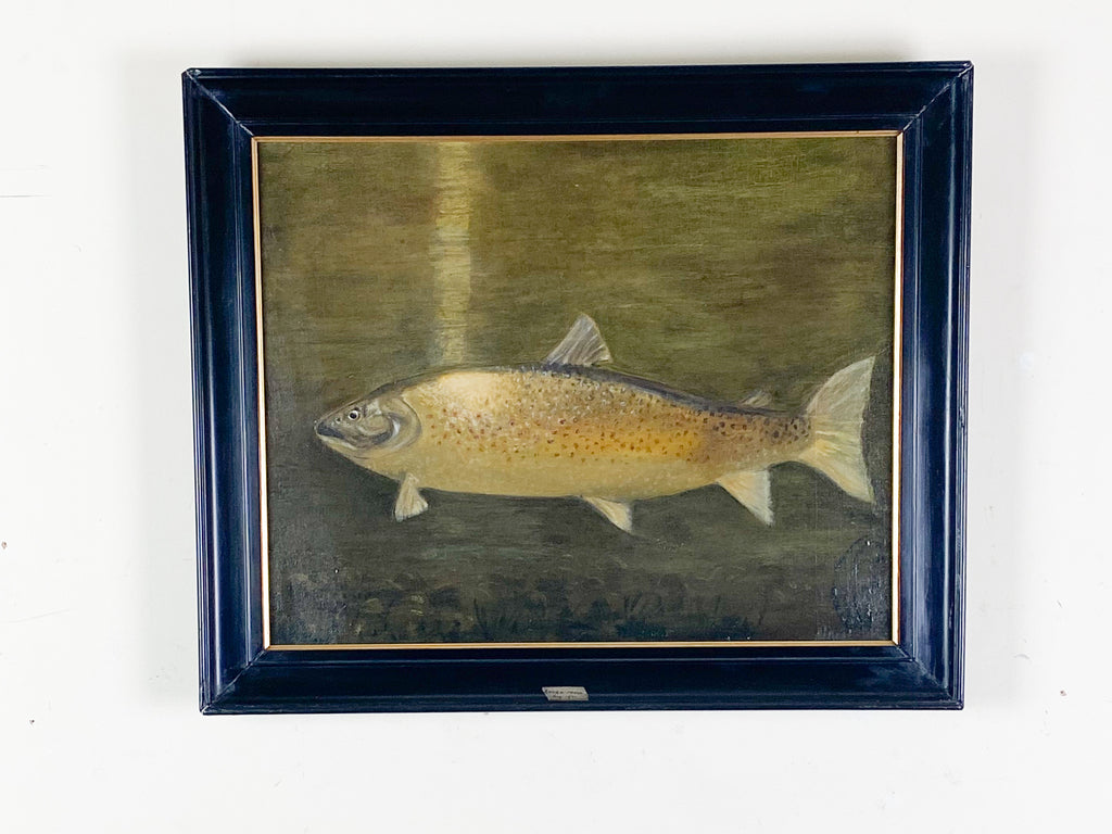Oil on Canvas, 'Brown Trout, Laugh Mask 1932'
