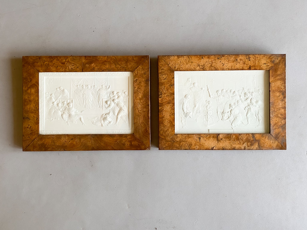 A Pair of Grand Tour Plaster Intaglios