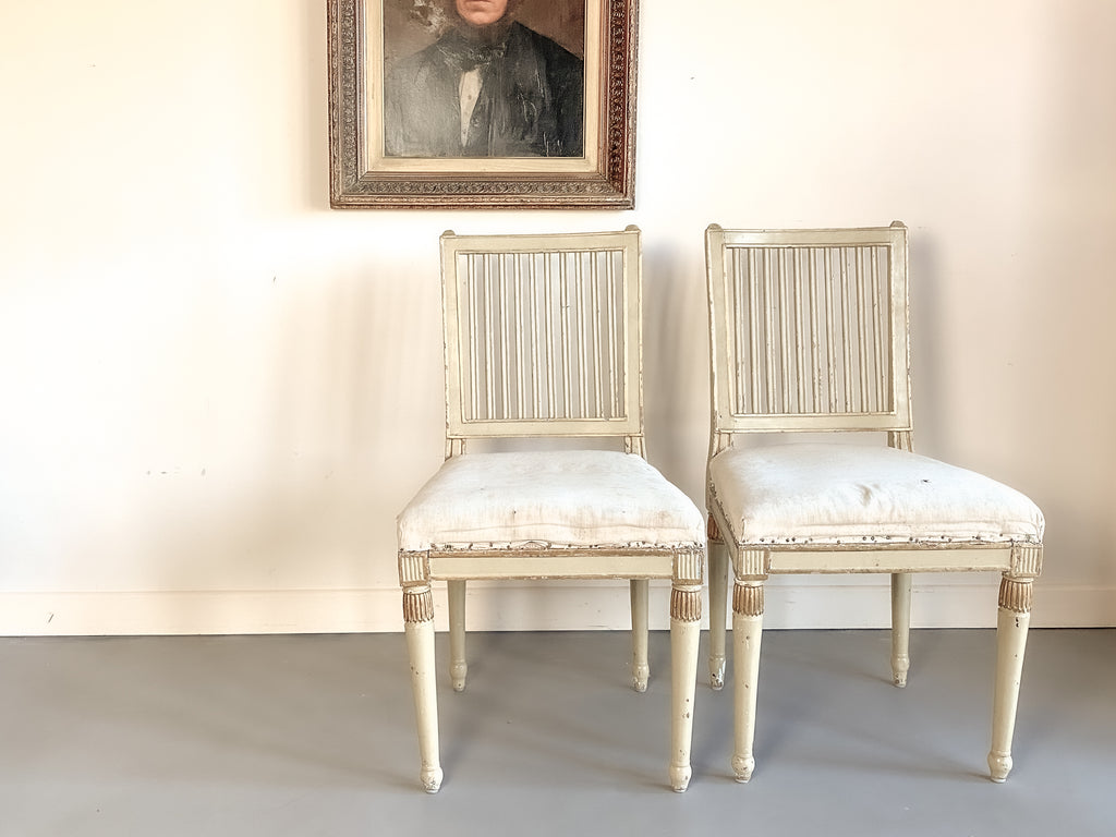 Pair of 18th Century Gustavian Chairs