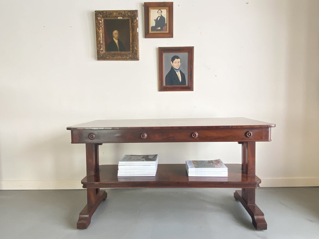 A William IV Library Table