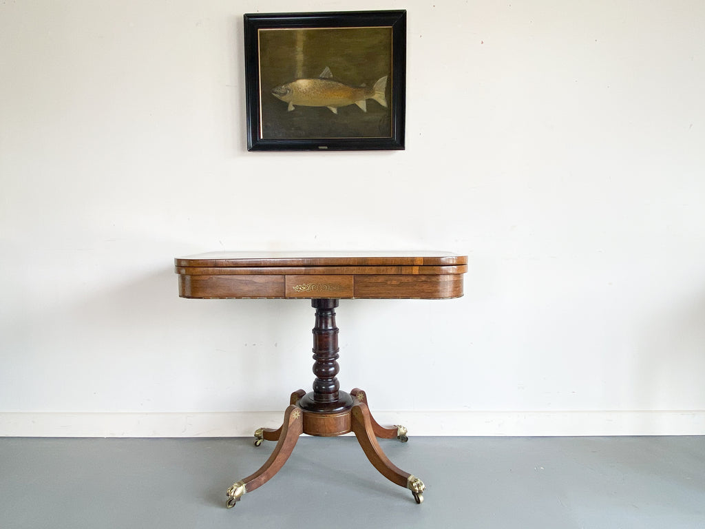 George IV Mahogany Card Table