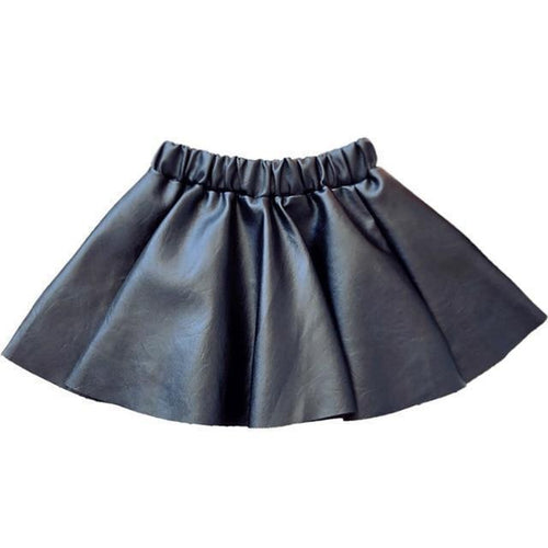 Girls Faux Leather Mini Skirt.