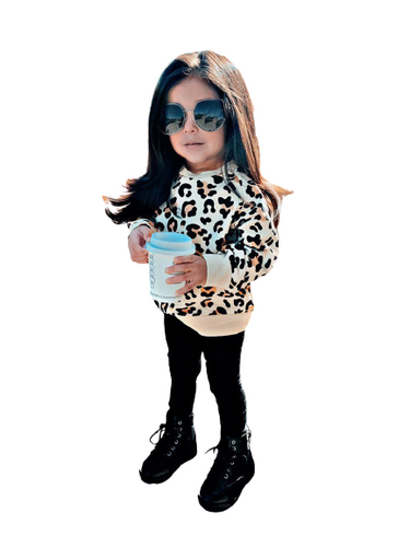 Girls Leopard Sweatshirt.