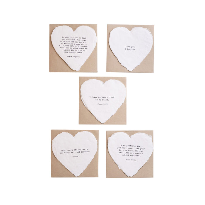 Deckled Heart Cards