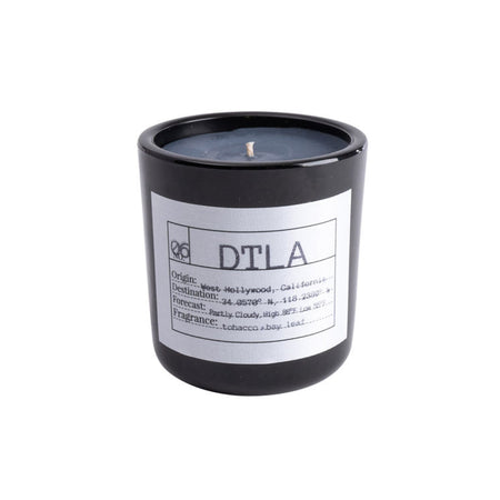 Flores Lane - DTLA Candle Scent: Bay Leaf + Tobacco Made of all natural soy wax and essential oils
