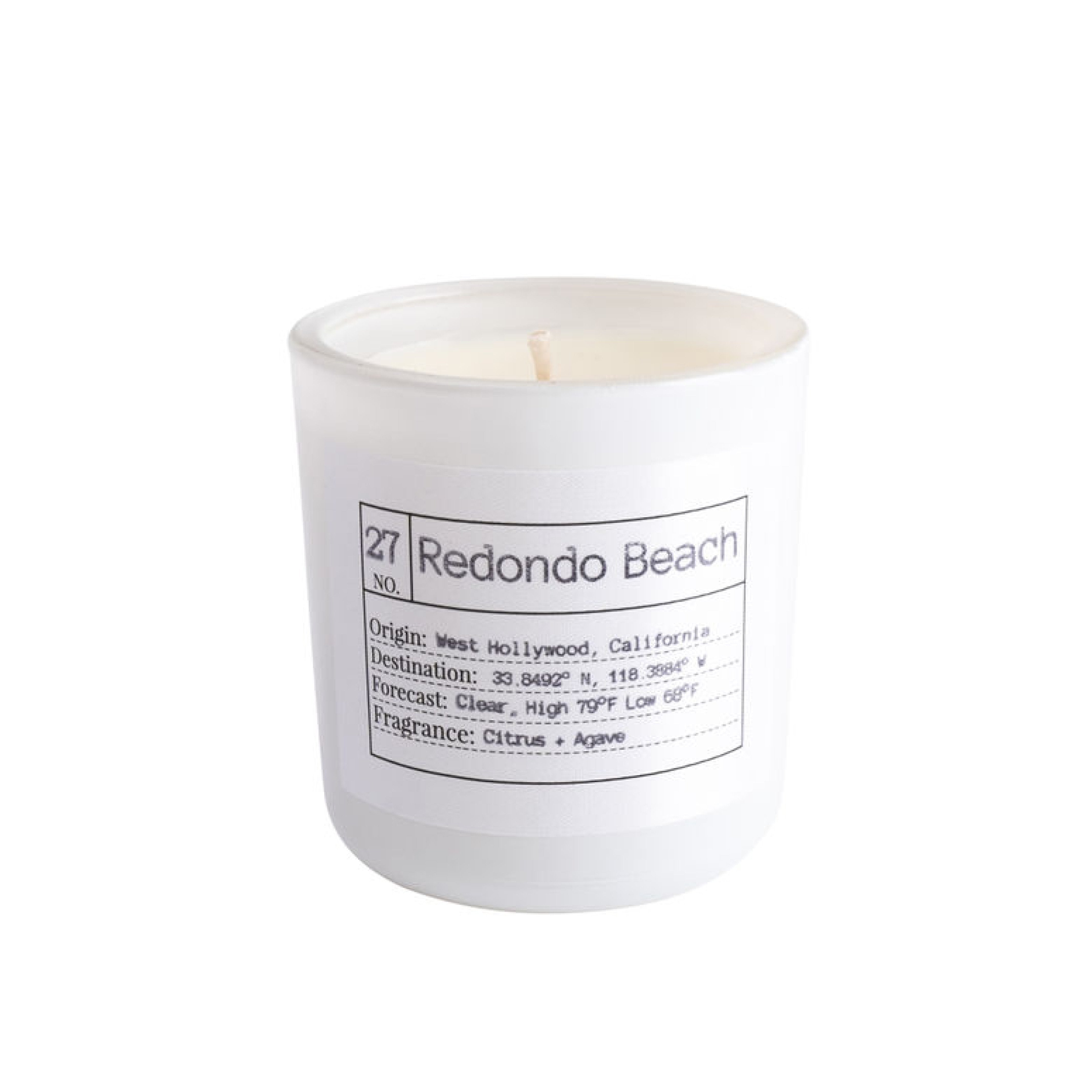 Flores Lane - Redondo Beach Candle Scent: Citrus + Agave Made of all natural soy wax and essential oils