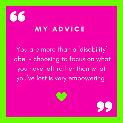 Danielle Brown Advice for Anyone Living with Disability