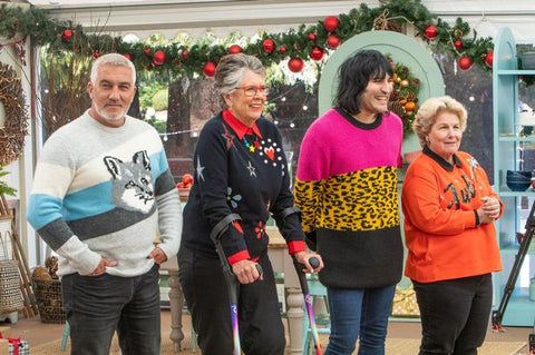 Prue Leith Joins in the Festive Bake Off Fun on Rainbow Cool Crutches