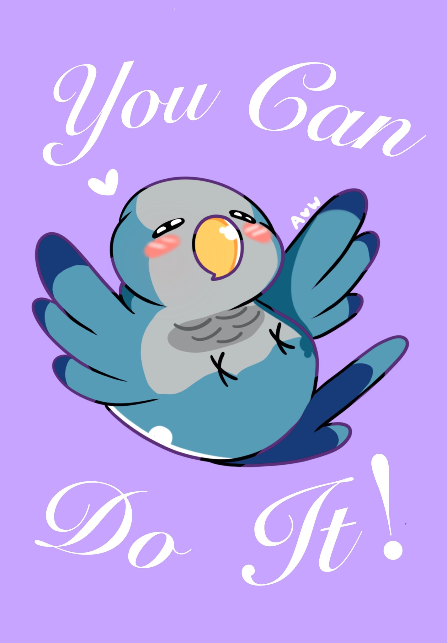 You can do it! Bird Print