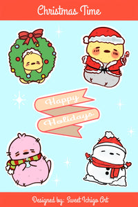 Holiday Birdie Sticker Sheet
