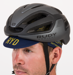 CYCLING HAT NAVY GOLD