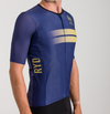 CYCLING JERSEY EXTREME PURPLE GOLD STRIPES