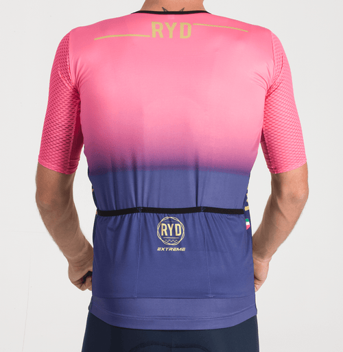 CYCLING JERSEY ZIPLESS PURPLE SWIPE PINK