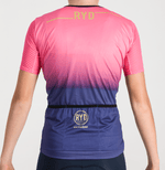 CYCLING JERSEY EXTREME ZIPLESS PURPLE SWIPE PINK
