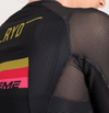 TRIATHLON JERSEY BLACK GOLD STRIPES