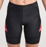 TRIATHLON SHORTS BLACK GOLD STRIPES