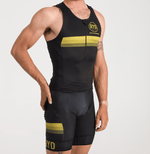 TRIATHLON TANK EXTREME BLACK GOLD STRIPES