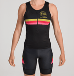TRIATHLON TANK BLACK GOLD STRIPES WOMAN