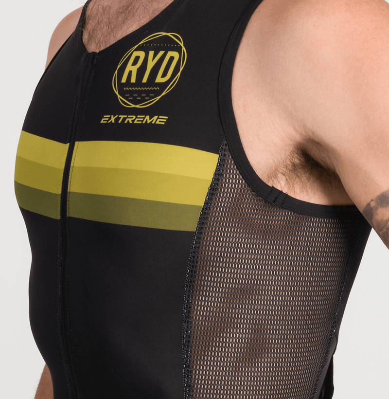 TRISUIT EXTREME SLEEVELESS BLACK GOLD STRIPES