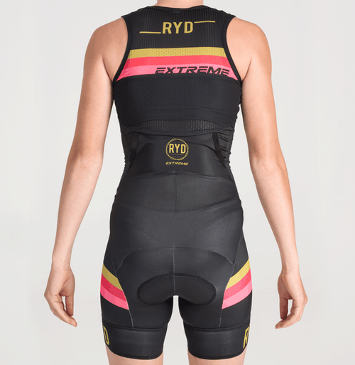 TRISUIT EXTREME PERFORMANCE SLEEVELESS BLACK GOLD STRIPES