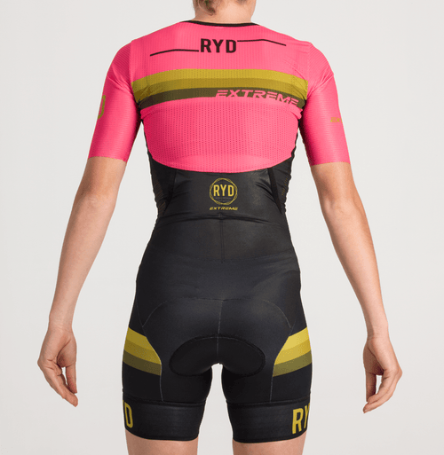 TRISUIT EXTREME PINK BLACK GOLD STRIPES