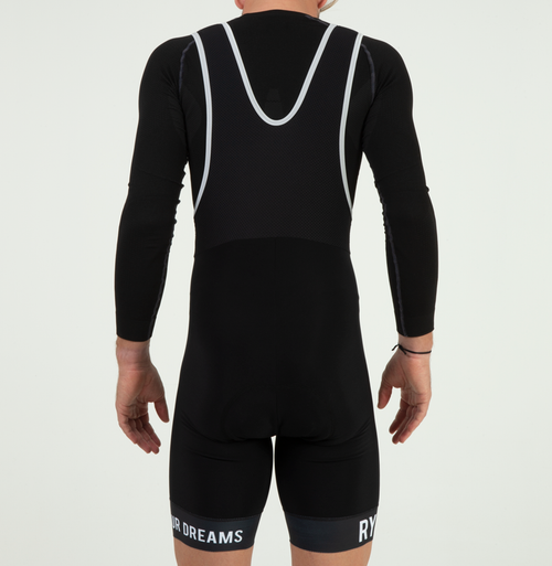 EXTREME FLEECE BIB SHORTS - WINTER BLACK