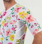 CYCLING JERSEY EXTREME WHITE FLOWER POWER