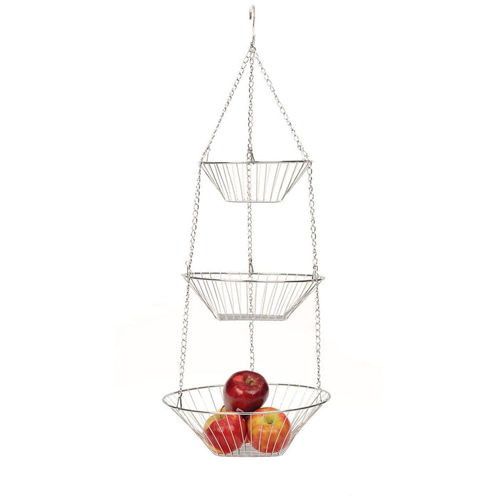 Endurance® Hanging Baskets 3-Tier Gleaming Chromed Wire