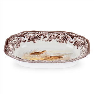 Spode Woodland Large Open Vegetable Dish 11.5 Inch, Snipe