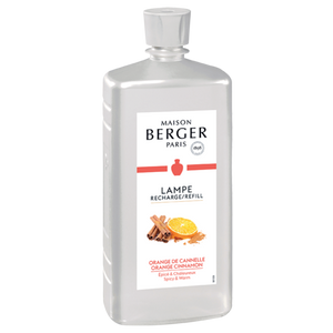 Maison Berger Lampe Fragrance Refill 1 L (33.8 oz), Orange Cinnamon