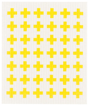 Now Designs Swedish Dishcloth Lemon Cross