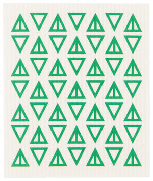 Swedish Dishcloth Greenbriar Triangles