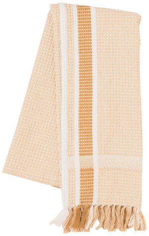 Danica Heirloom Soft Waffle Tea Towel, Ochre