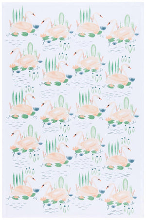 Now Designs Tea Towel Swan Lake