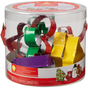 Wilton Holiday Cookie Cutter Set of 12