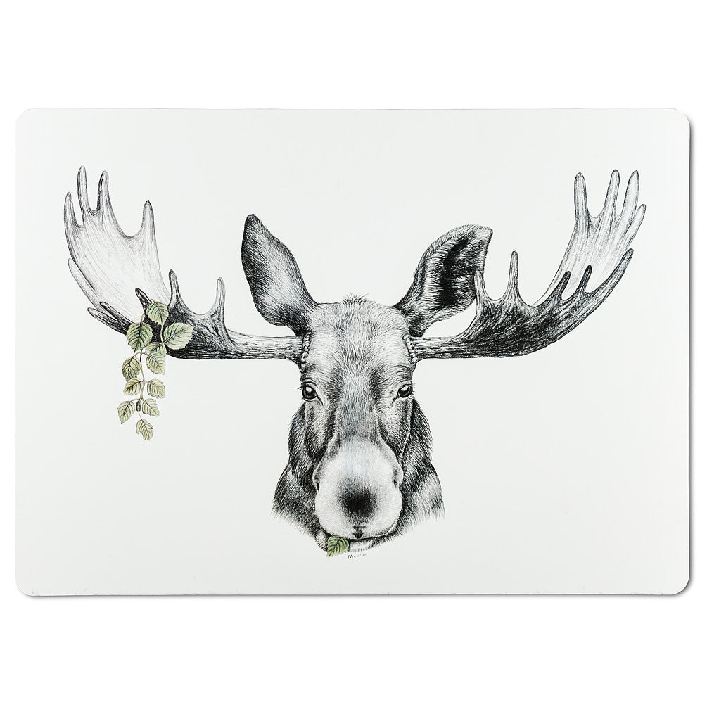 Abbott Charlotte Nicolin Forest Prince Moose Placemat