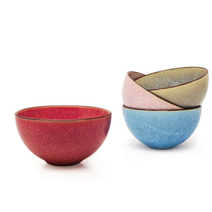 "Now Designs Dip Bowl 4.5"" Reactive Glaze Pink"