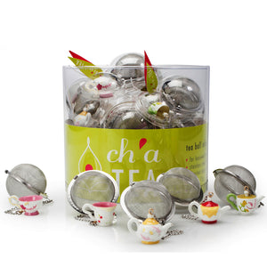 CH'A TEA Tea Ball Infuser with Charms, Assorted